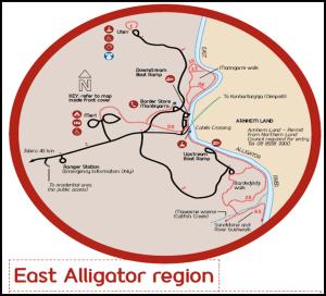 Mapa Kakadu East Alligator - Australia