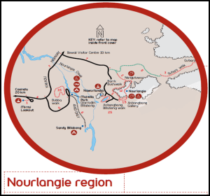 Mapa Kakadu Nourrlangie - Australia