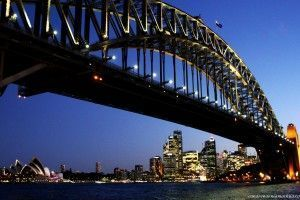 Milsons Point Harbour Bridge Sídney Australia