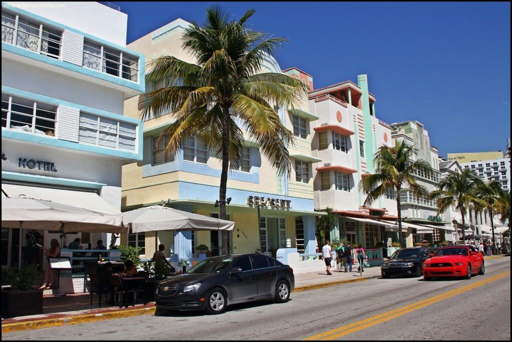 Ocean Drive Miami Beach Florida Estados Unidos