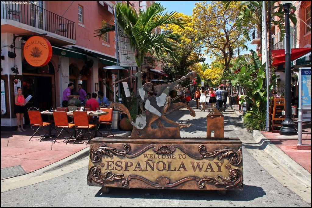 Española Way Miami Beach Florida Estados Unidos