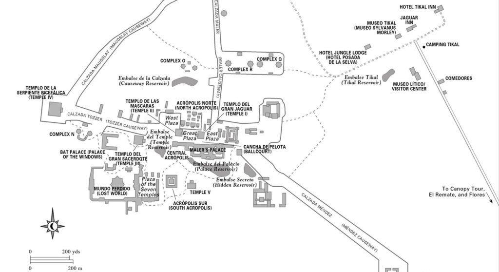 Mapa Tikal Guatemala