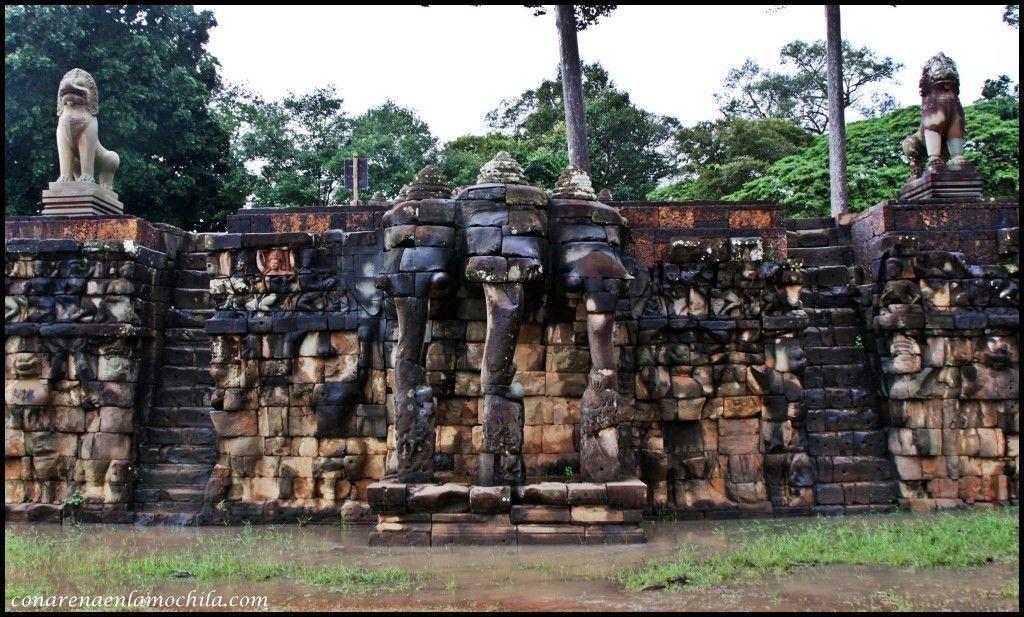 Terraza de los Elefantes Angkor Siem Reap Camboya