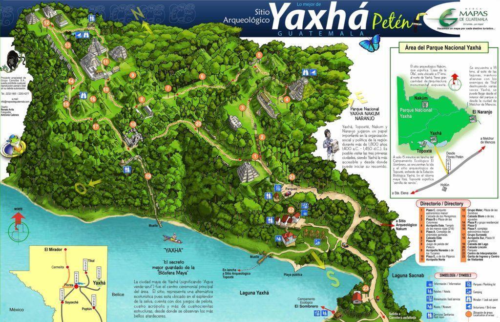 Mapa Yaxhá