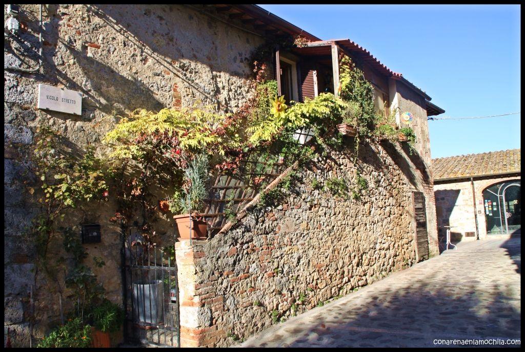 Monteriggioni Toscana Italia