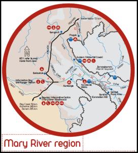 Mapa Kakadu Mary River - Australia