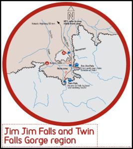 Mapa Kakadu Jim Jim falls - Australia
