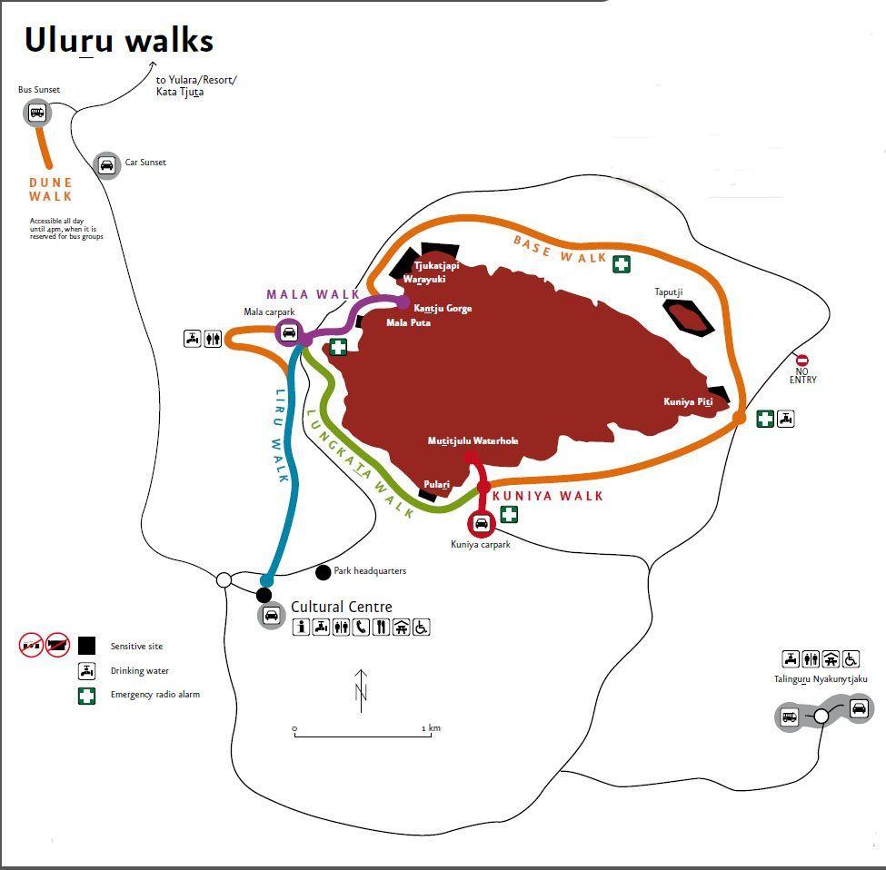 Uluru mapa - Australia