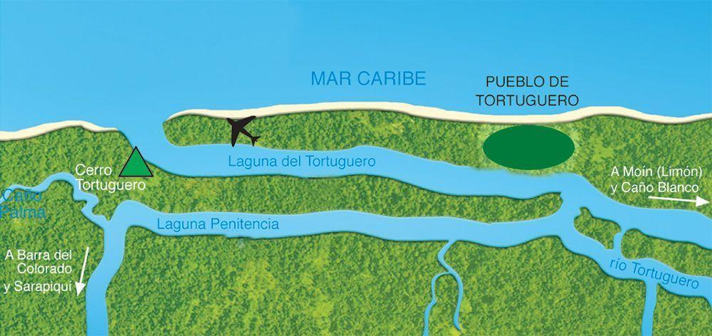 Mapa Tortuguero