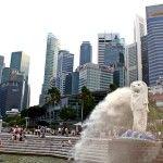Singapur: El Merlion y Marina Bay