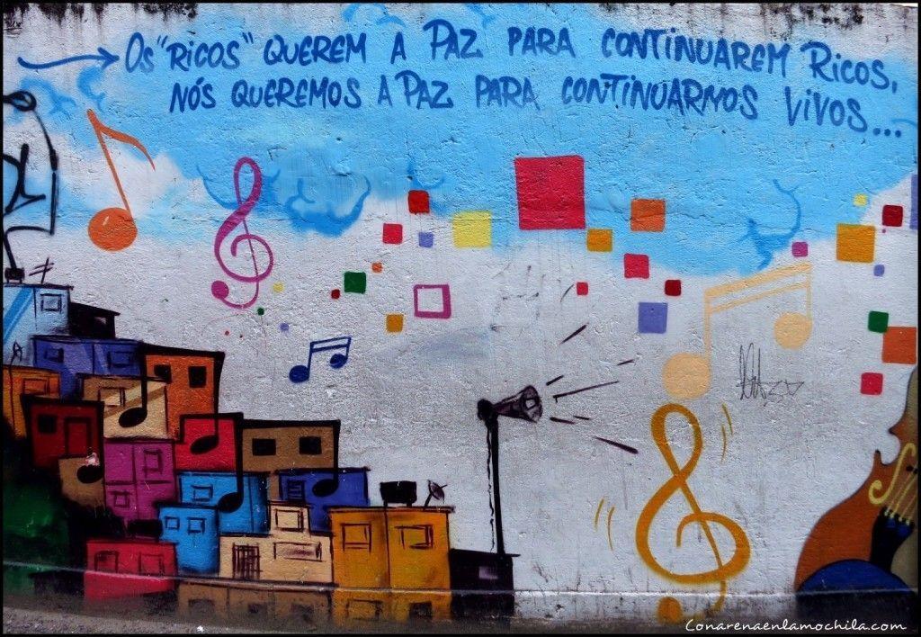 Favela Santa Marta Rio de Janeiro Brasil
