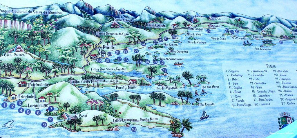 Mapa Paraty